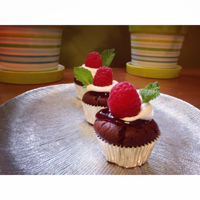 Flourless Chocolate Cupcakes from Sassy Southern Yankee