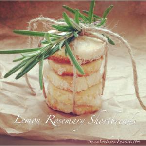 Lemon Rosemary Shortbreads
