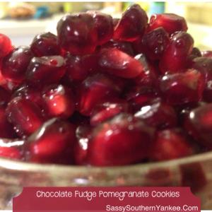 Chocolate Fudge Pomegranate Cookies