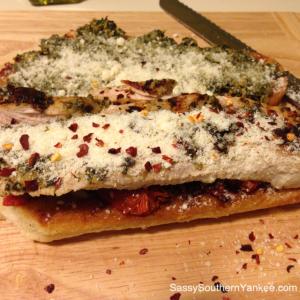 Grilled Turkey Pesto Sandwich