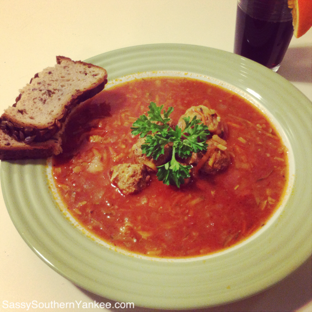 Albóndigas Soup from Sassy Southern Yankee