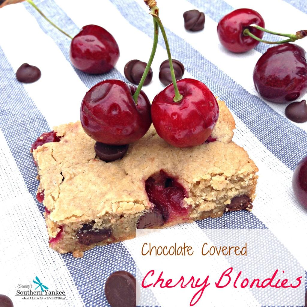 Chocolate Covered  Cherry Blondies 8