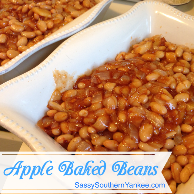 Apple Baked Beans from Sassy Southern Yankee