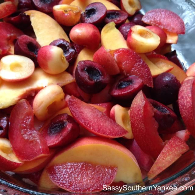 Stone Fruit Salad with Honey Dressing