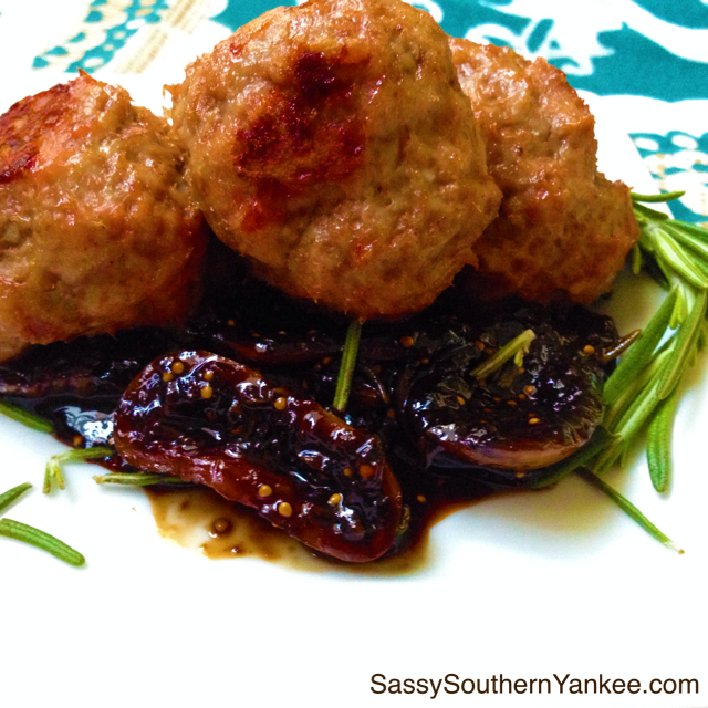 Spiced Lamb Meatballs with Balsamic Fig Compote