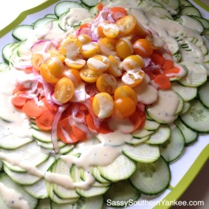 Garden Fresh Salad with White Balsamic Dressing