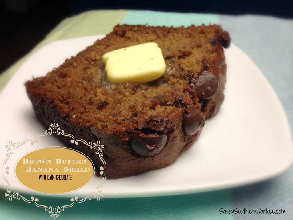 Brown Butter Banana Bread with Dark Chocolate