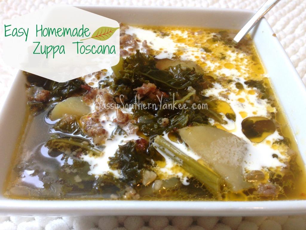 Easy Homemade Zuppa Toscana