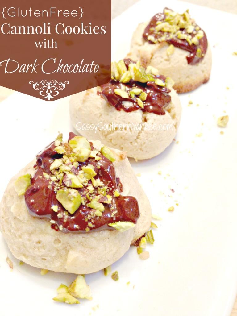 Gluten Free Cannoli Cookies with Dark Chocolate 4