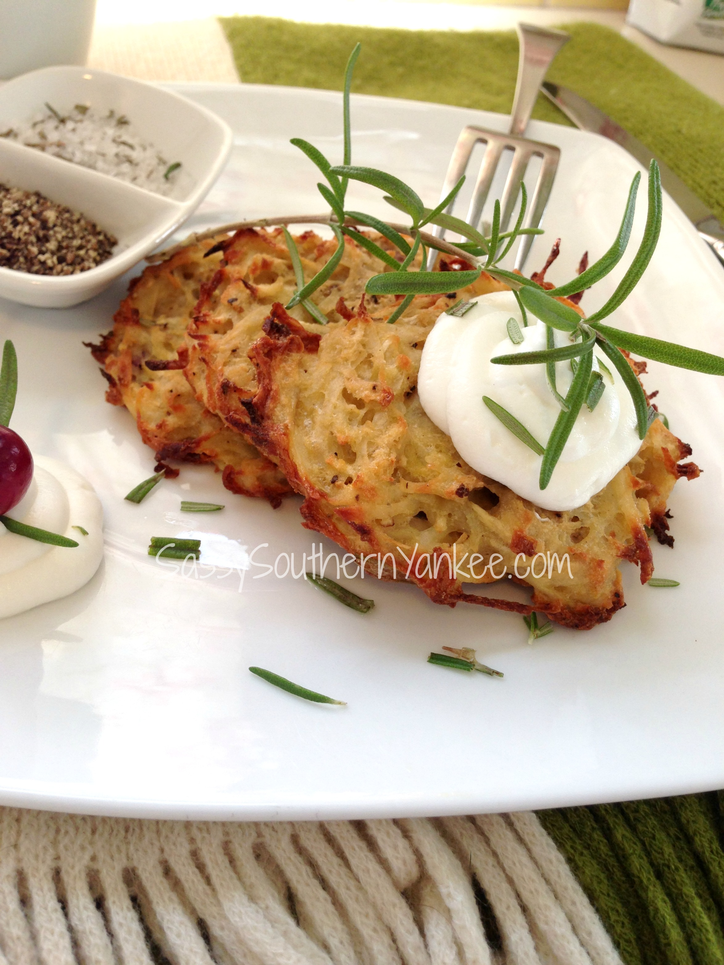 Healthier Baked Potato and Parsnip Latkes