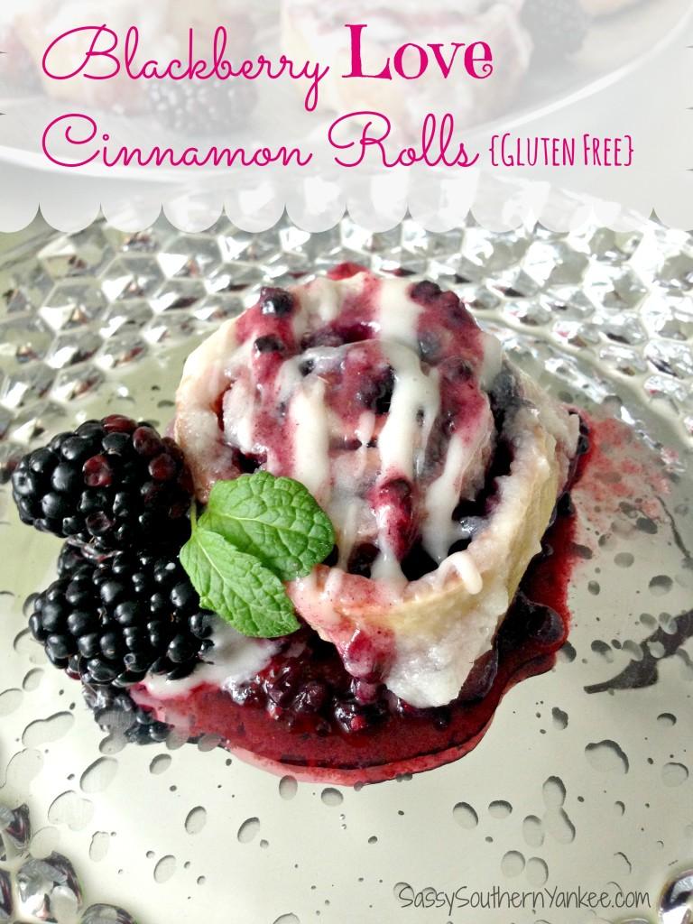 Blackberry Love Cinnamon Rolls {Gluten Free} 4