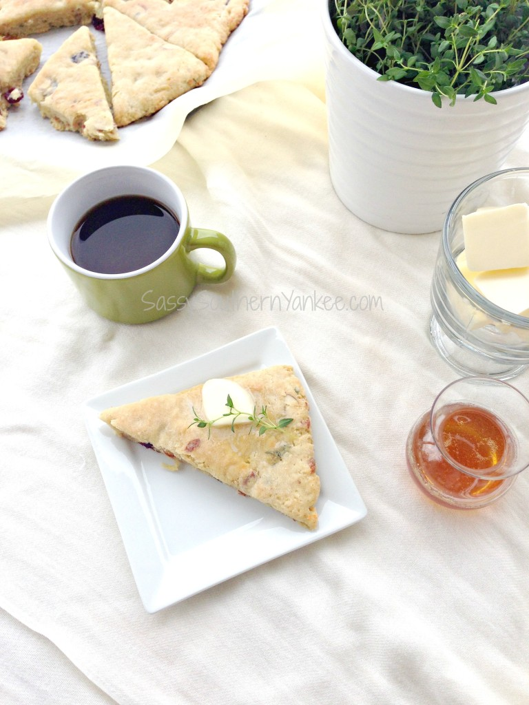 Cherry Almond Scones with Goat Cheese and Thyme {Gluten Free} 7