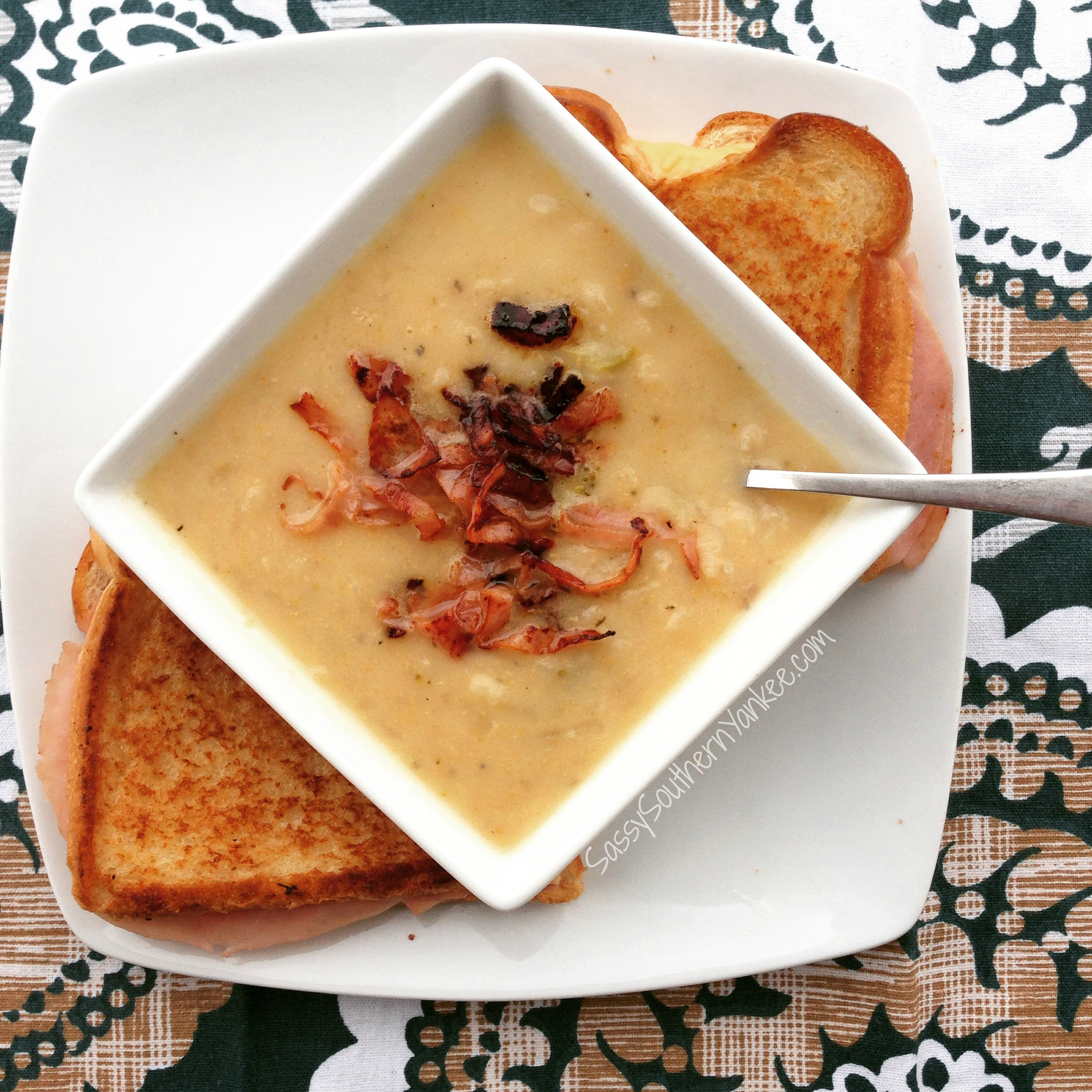 Crazy Good Crockpot Cheesy Potato Broccoli Soup With Pancetta