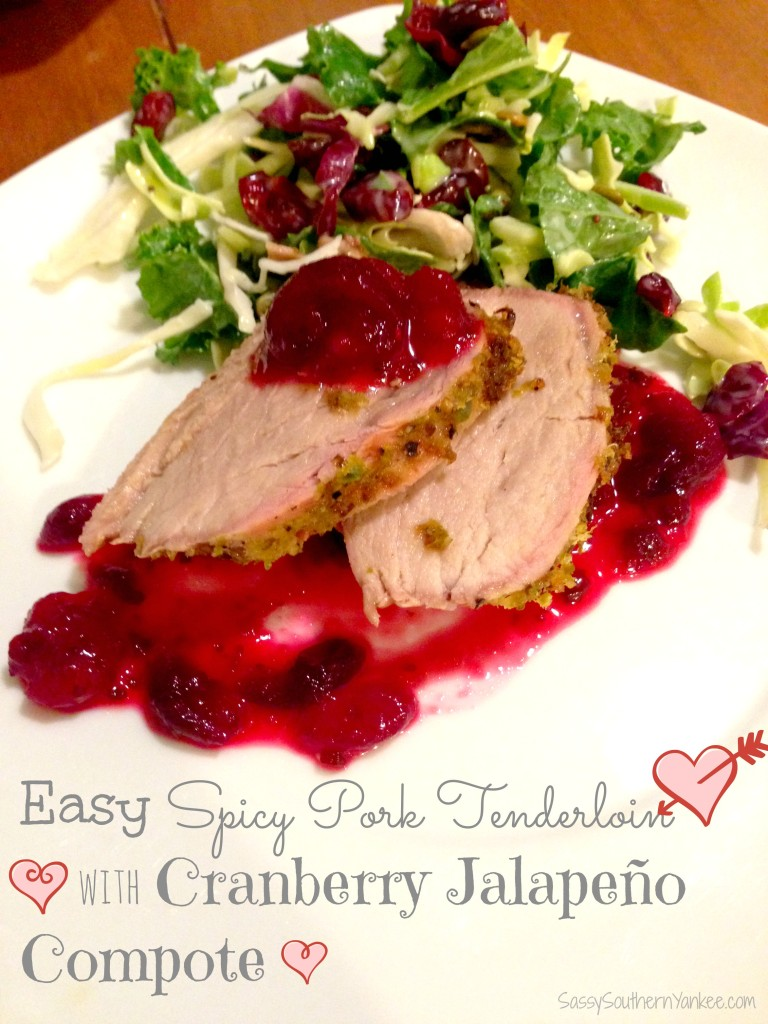 Easy Spicy Pork Tenderloin with Cranberry Jalapeño Compote 4
