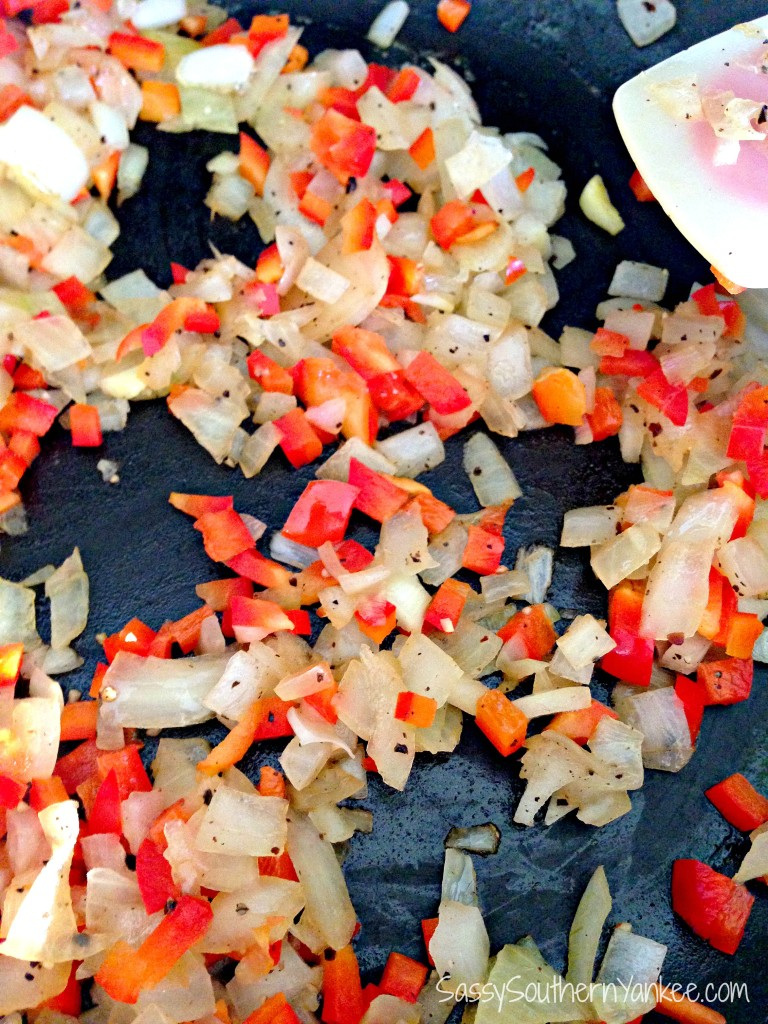 Onions and Red peppers