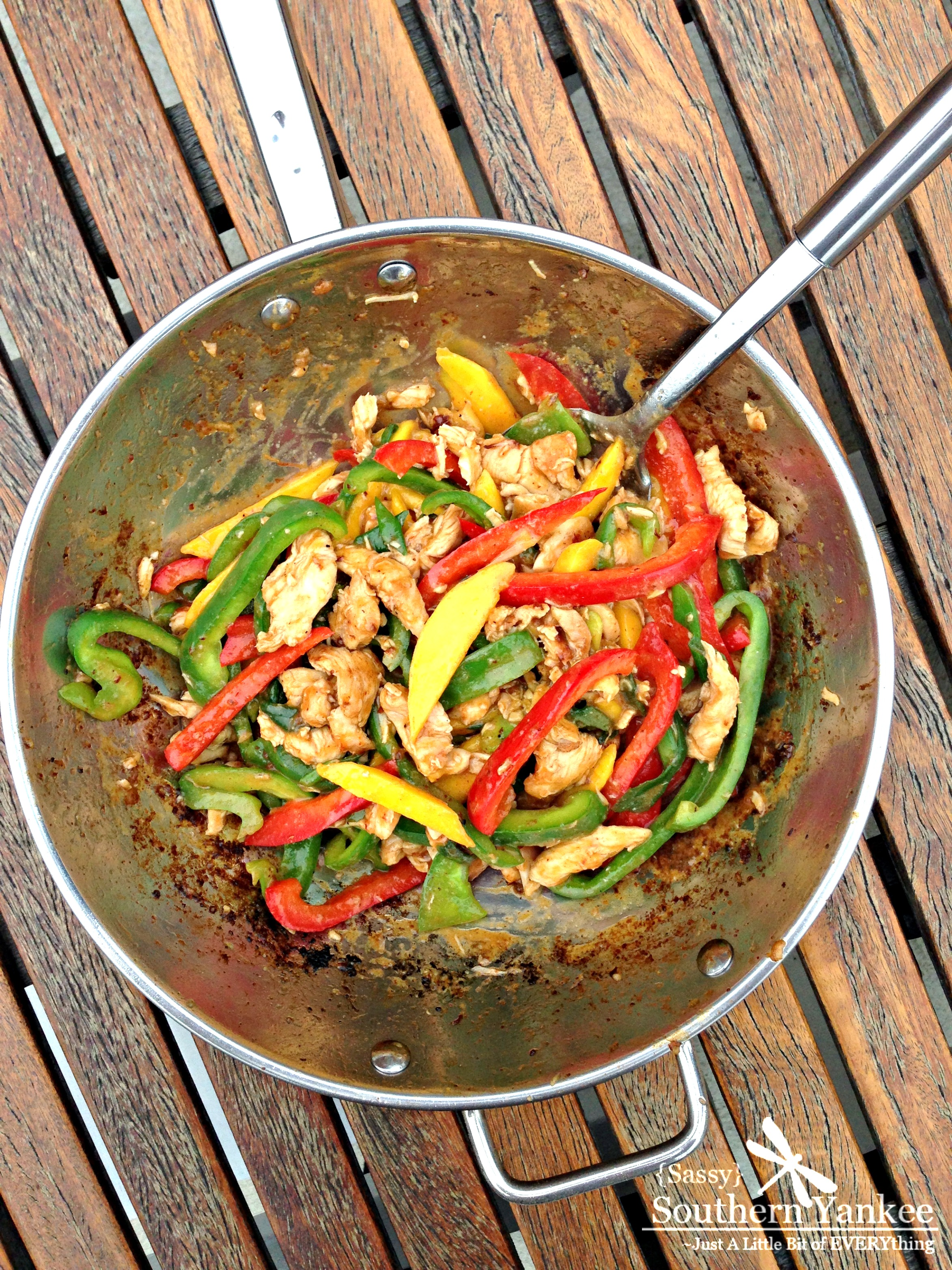 Easy Stir-Fried Chili Mango Chicken With Peppers (Gluten Free) - Sassy ...