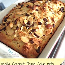 Vanilla Coconut Pound Cake with Dark Chocolate (Gluten Free) 5
