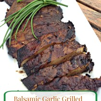 Balsamic Garlic Grilled Portobello Mushrooms