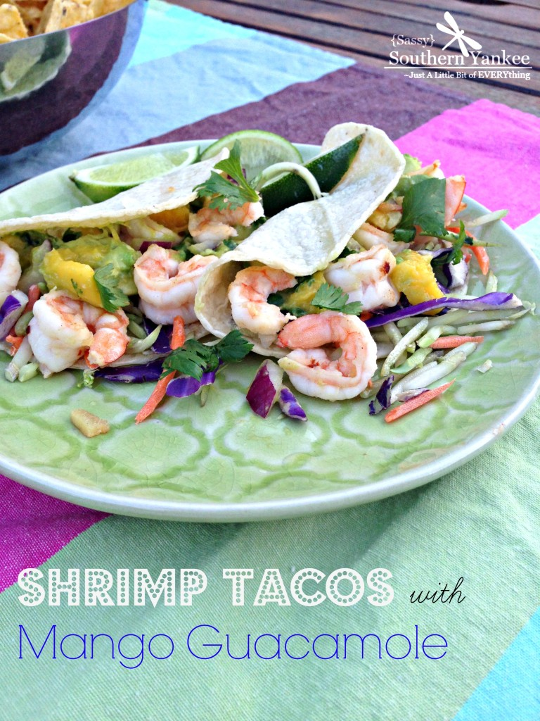 Shrimp Tacos with Mango Guacamole