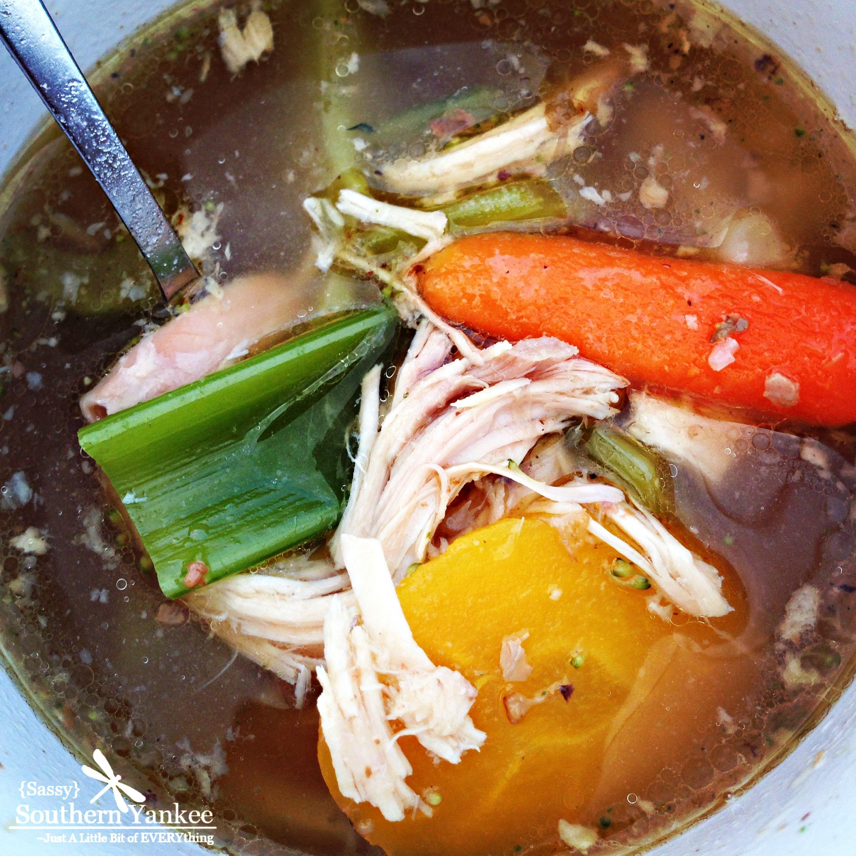 The Best Crock Pot No Noodle Chicken Soup -Whole 30