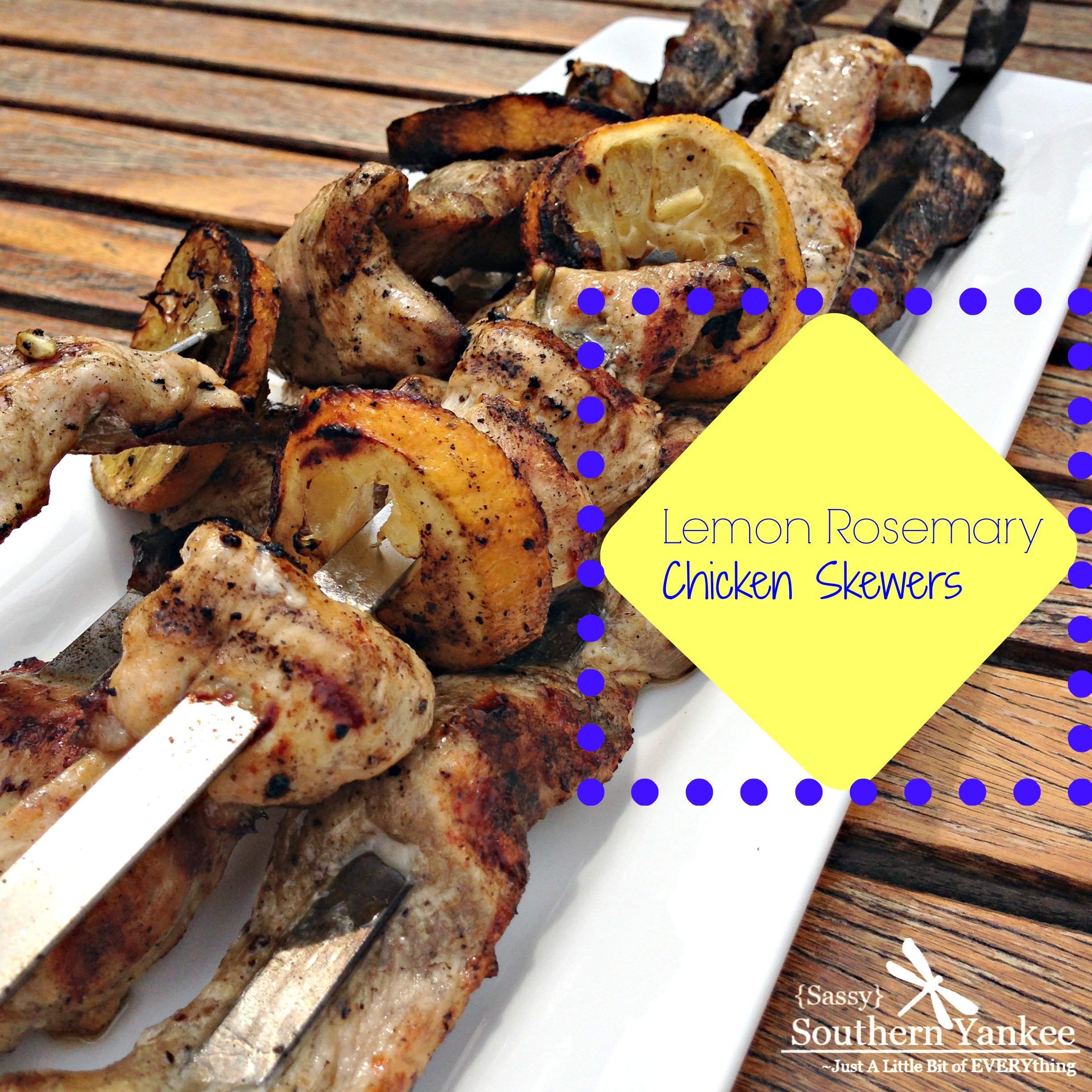 Lemon Rosemary Chicken Skewers 4 | Sassy Southern Yankee