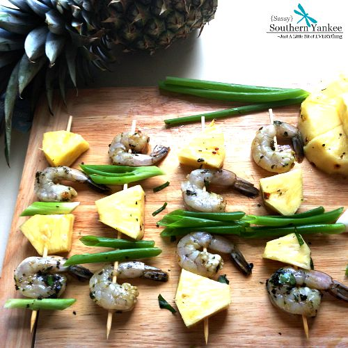 Grilled Basil Shrimp with Pineapple 2
