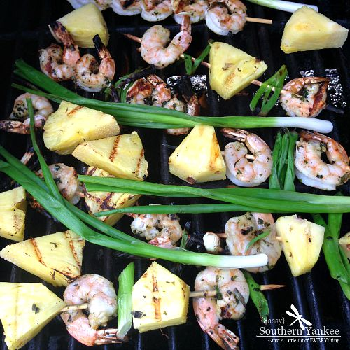 Grilled Basil Shrimp with Pineapple 3