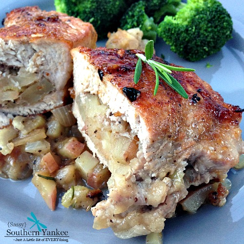 ... Apple Stuffed Pork Chops will have your whole family coming back for