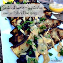 Garlic Roasted Eggplant with Lemon Tahini Dressing 4