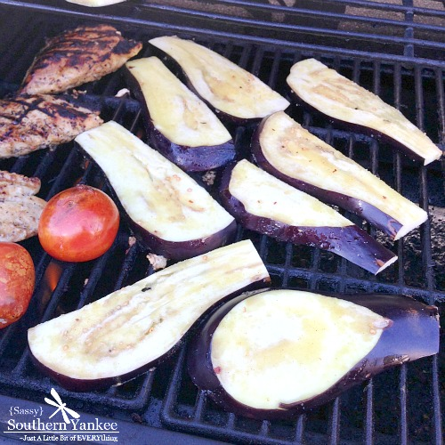 Garlic Roasted Eggplant with Lemon Tahini Dressing from Sassy Southern Yankee
