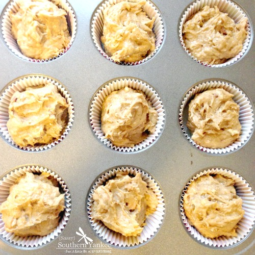 Caramel Pecan Banana Muffins