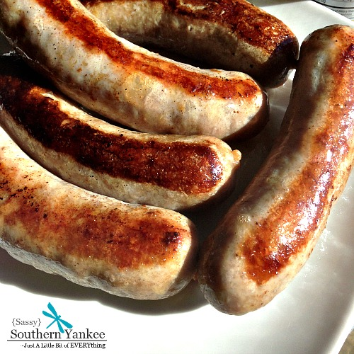 Roasted Brats from Sassy Southern Yankee