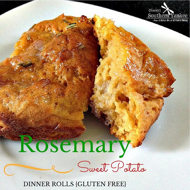 Rosemary Sweet Potato Dinner Rolls