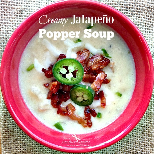 Creamy Jalapeño Popper Soup in a Crockpot